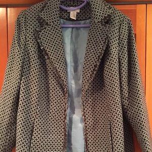 Black and Tiffany blue tweed -like jacket 🧥 16W